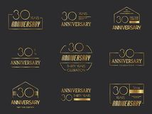 30 years anniversary logo set. Vector illustration Stock Images