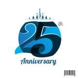 25 years anniversary logo and symbol design Stock Photo