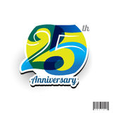 25 years anniversary logo and symbol design Stock Photography
