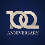 100 years anniversary paper number. Illustration for the web Royalty Free Stock Photos