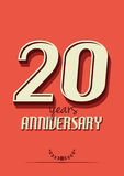 20 years anniversary poster template. Vector illustration of the 20 years anniversary poster template Royalty Free Illustration