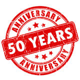 50 years anniversary rubber stamp. 50 years anniversary rubber vector stamp Stock Photo