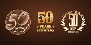 50 years anniversary set of vector logo, icon, number Stock Images