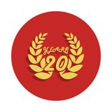 20 years anniversary sign. Element of anniversary sign. Premium quality graphic design icon in badge style. One of anniversary col. Lection icon can be used for Royalty Free Illustration