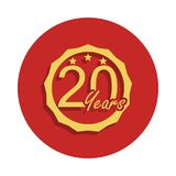 20 years anniversary sign. Element of anniversary sign. Premium quality graphic design icon in badge style. One of anniversary col. Lection icon can be used for Vector Illustration