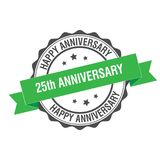 25 years anniversary stamp illustration. 25th anniversary stamp seal illustration design Stock Photos