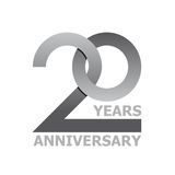 20 years anniversary symbol Royalty Free Stock Photography