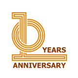 10 years anniversary symbol. Illustration for the web Stock Photo