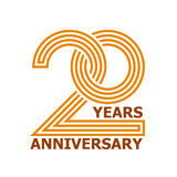 20 years anniversary symbol. Illustration for the web Royalty Free Illustration
