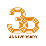30 years anniversary symbol Stock Photo