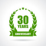 30 years anniversary. Vector emblem Stock Photo