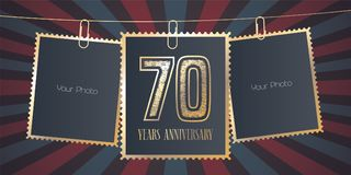 70 years anniversary vector emblem, logo Stock Photos