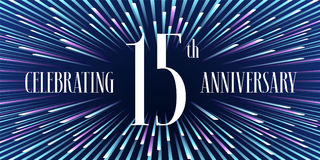15 years anniversary vector icon, banner Stock Image