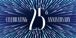 25 years anniversary vector icon, banner Royalty Free Stock Images