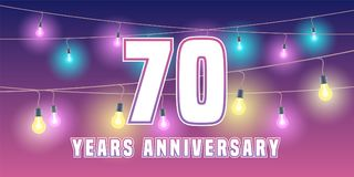 70 years anniversary vector icon, banner. Graphic design element or logo with abstract background for 70th anniversary Stock Photos