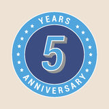 5 years anniversary vector icon, emblem Royalty Free Stock Photos