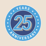 25 years anniversary vector icon, emblem Royalty Free Stock Photography