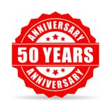 50 years anniversary vector icon. Isolated on white background Royalty Free Stock Photos
