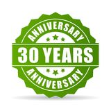 30 years anniversary vector icon. Isolated on white background Stock Photos
