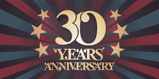 30 years anniversary vector icon, logo, banner Royalty Free Stock Image