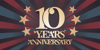 10 years anniversary vector icon, logo, banner Royalty Free Stock Photography