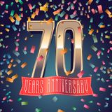 70 years anniversary vector icon, logo Stock Photo