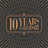 10 years anniversary vector icon, logo Royalty Free Stock Photos
