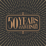 50 years anniversary vector icon, logo Royalty Free Stock Image