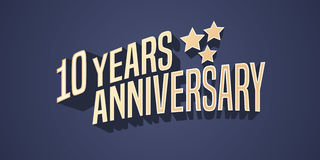 10 years anniversary vector icon, logo Royalty Free Stock Photo