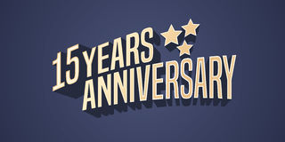 15 years anniversary vector icon, logo Royalty Free Stock Photos