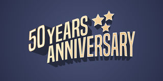 50 years anniversary vector icon, logo Stock Image