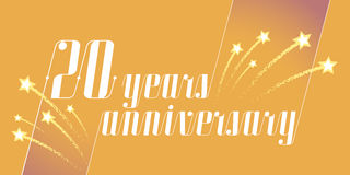 20 years anniversary vector icon, logo. Graphic design element or banner for 20th anniversary Stock Photography