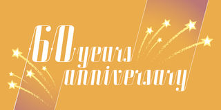 60 years anniversary vector icon, logo. Graphic design element or banner for 60th anniversary royalty free illustration