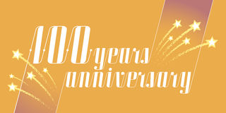100 years anniversary vector icon, logo. Graphic design element or banner for 100th anniversary Royalty Free Stock Photography