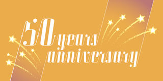 50 years anniversary vector icon, logo. Graphic design element or banner for 50th anniversary Royalty Free Stock Image
