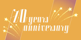 70 years anniversary vector icon, logo. Graphic design element or banner for 70th anniversary Royalty Free Stock Photos