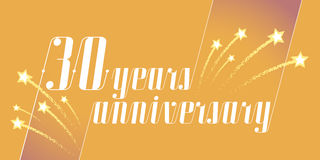 30 years anniversary vector icon, logo. Graphic design element or banner for 30th anniversary Stock Photography