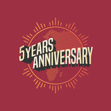 5 years anniversary vector icon, logo Stock Photo