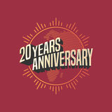 20 years anniversary vector icon, logo. Graphic design element for decoration for 20th anniversary card Royalty Free Stock Photos