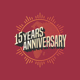 15 years anniversary vector icon, logo. Graphic design element for decoration for 15th anniversary card Stock Images