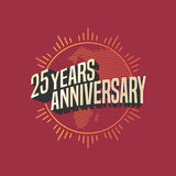 25 years anniversary vector icon, logo. Graphic design element for decoration for 25th anniversary card Royalty Free Stock Images