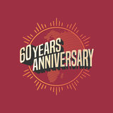 60 years anniversary vector icon, logo. Graphic design element for decoration for 60th anniversary card Royalty Free Stock Photo