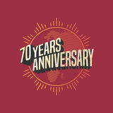 70 years anniversary vector icon, logo. Graphic design element for decoration for 70th anniversary card Stock Images