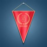 5 years anniversary vector icon, logo Royalty Free Stock Photography