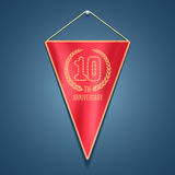 10 years anniversary vector icon, logo. Graphic design element for decoration for 10th anniversary card Stock Photo