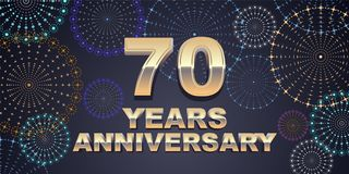 70 years anniversary vector icon, logo Stock Photography