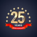25 years anniversary vector icon, logo Stock Photo