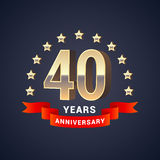 40 years anniversary vector icon, logo Royalty Free Stock Images