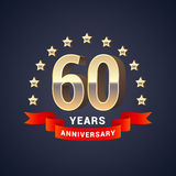 60 years anniversary vector icon, logo Royalty Free Stock Photography