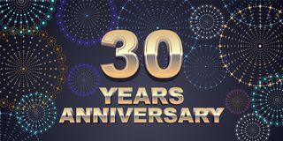 40 years anniversary vector icon, logo Stock Photo